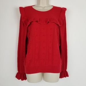Kate Spade NY Sweater Pullover Red L